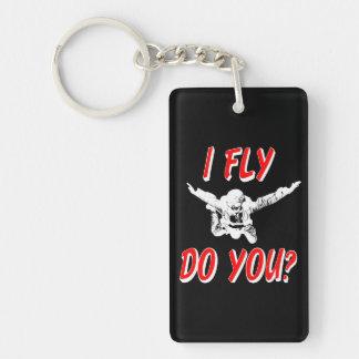 I Fly, Do You? (wht) Keychain