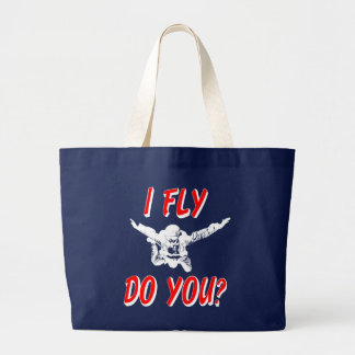 I Fly, Do You? (wht) Large Tote Bag