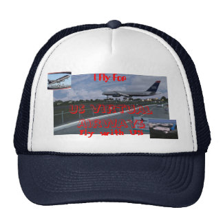 I fly For US virtual Airways offical pilots cap Trucker Hat