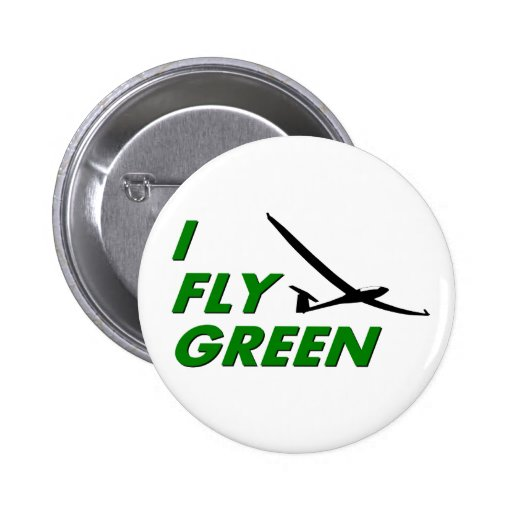 I Fly GREEN Pinback Button
