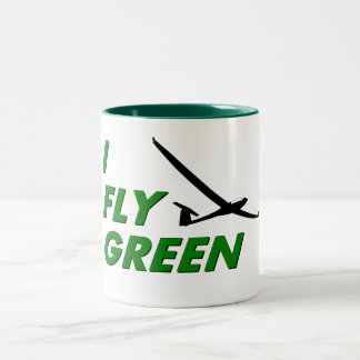 I Fly GREEN Two-Tone Coffee Mug