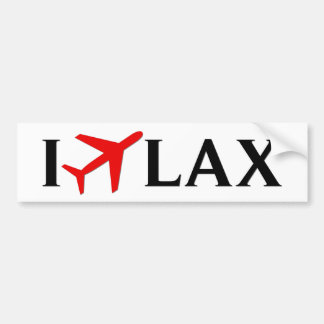 I Fly LAX - Los Angeles International Airport Bumper Sticker