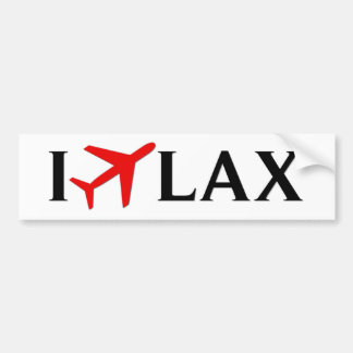 I Fly LAX - Los Angeles International Airport Car Bumper Sticker