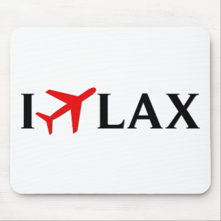 I Fly LAX - Los Angeles International Airport Mouse Pad