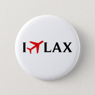 I Fly LAX - Los Angeles International Airport Pinback Button