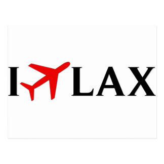 I Fly LAX - Los Angeles International Airport Postcard