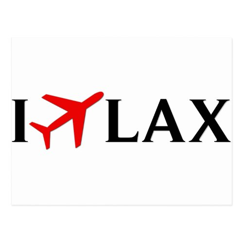 I Fly LAX _ Los Angeles International Airport Postcard