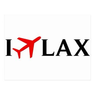 I Fly LAX - Los Angeles International Airport Postcard