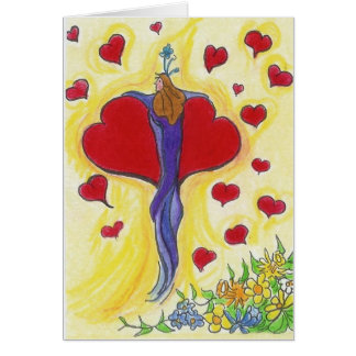 """""""I Fly On the Wings of Love Straight to You ..."""" Greeting Card"""