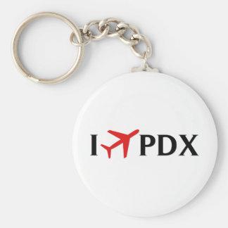 I Fly PDX - Portland International Airport, OR Keychain