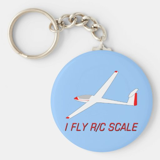 I Fly R/C Scale Keychain
