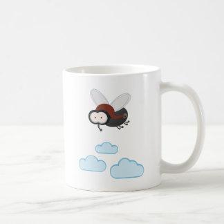 I fly so high - puck the housefly classic white coffee mug