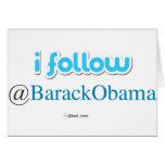 i follow @BarackObama Card