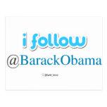 i follow @BarackObama Postcard