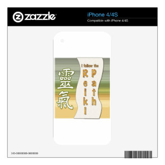 I follow the Reiki Path Decals For The iPhone 4