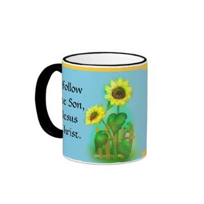 I Follow The Son Jesus Christ Mug from Zazzle.