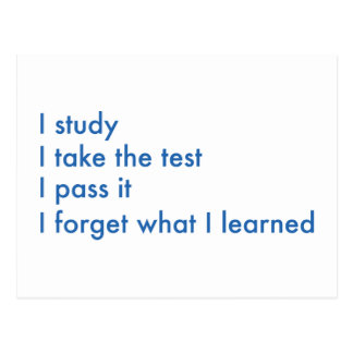 I Forget What I Learned Postcard