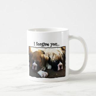 I Forgive you boxer puppies mug