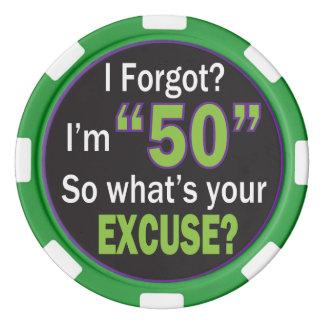 I Forgot I am 50 | 50th Birthday Poker Chip Set