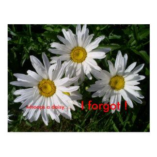 I forgot ! postcards