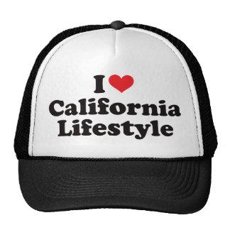 I forma de vida de California del corazón Gorras