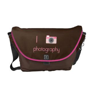 I fotografía del corazón bolsa de mensajería
