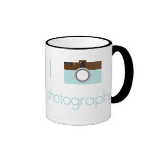 I fotografía del corazón taza de café