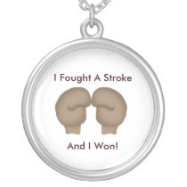 I Fought A Stroke Necklace