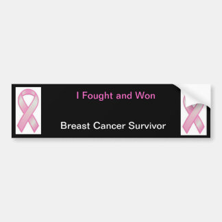 I fought and won- Breast cancer Bumper Sticker