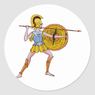 I fought at Sparta Classic Round Sticker