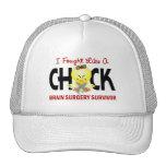 I Fought Like A Chick 1 Brain Surgery Survivor Trucker Hat