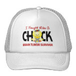 I Fought Like A Chick Brain Tumor Survivor Mesh Hats