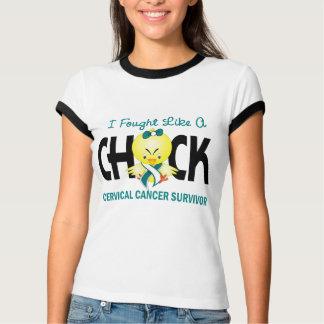 I Fought Like A Chick Cervical Cancer Survivor T-Shirt