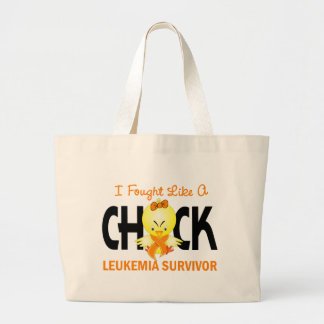 I Fought Like A Chick Leukemia Survivor Large Tote Bag