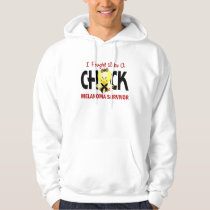 I Fought Like A Chick Melanoma Survivor Hoodie
