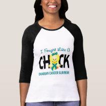 I Fought Like A Chick Ovarian Cancer Survivor T-Shirt