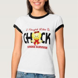 I Fought Like A Chick Stroke Survivor T-Shirt