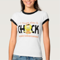 I Fought Like A Chick Uterine Cancer Survivor T-Shirt