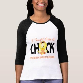 I Fought Like A Chick Uterine Cancer Survivor Tshirt