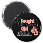 I Fought Like a Girl and Won - Uterine Cancer Refrigerator Magnet