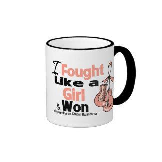 I Fought Like a Girl and Won - Uterine Cancer Coffee Mugs