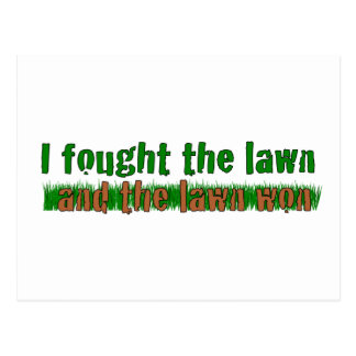 I Fought The Lawn Postcard