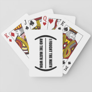 I Fought The Math Playing Cards
