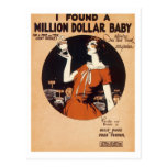I Found A Million Dollar Baby Vintage Songbook Cov Post Cards