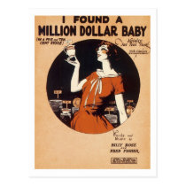 I Found A Million Dollar Baby Vintage Songbook Cov Postcard