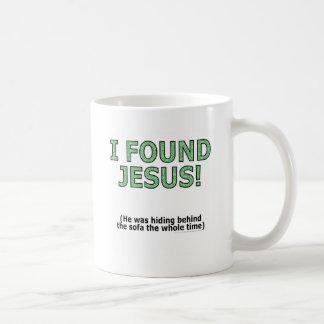 I found Jesus! He was hiding behind the sofa... Coffee Mug
