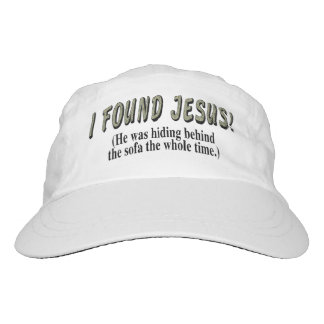 I found Jesus! (He was hiding behind the sofa... Headsweats Hat