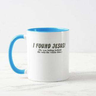 I found Jesus! (He was hiding behind the sofa... Mug