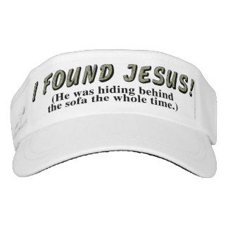 I found Jesus! (He was hiding behind the sofa... Visor