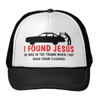 I found Jesus spoof Mesh Hats
